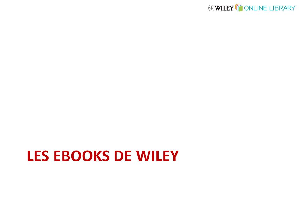 LES EBOOKS DE WILEY