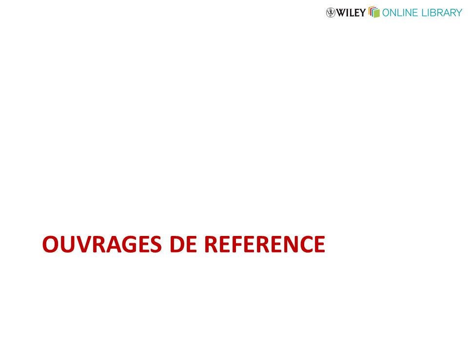 OUVRAGES DE REFERENCE