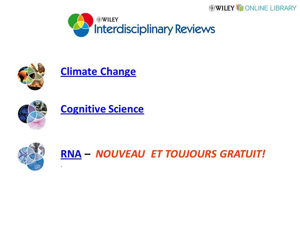 Cognitive Science Climate Change RNARNA – NOUVEAU ET TOUJOURS GRATUIT!.