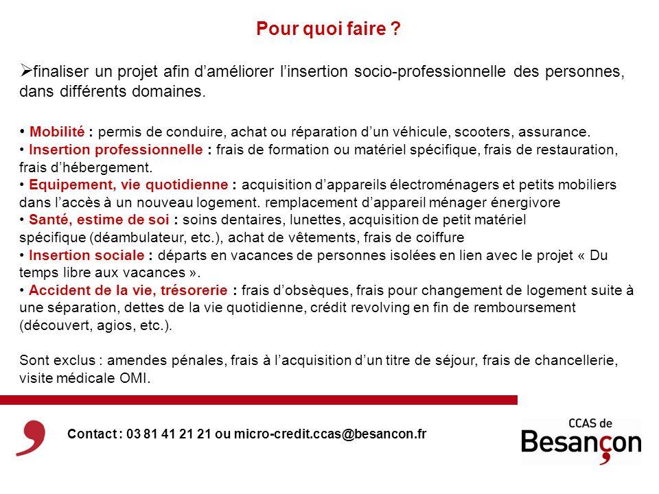 Comment y accéder .Résidence : être domicilié ou résidant à Besançon.