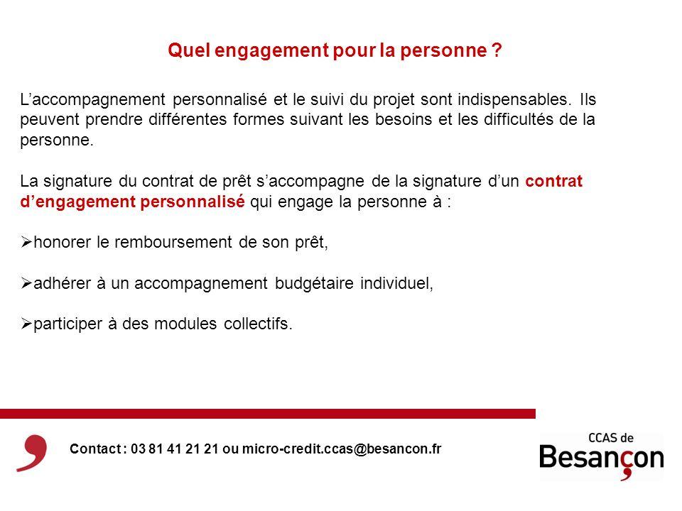 Quel engagement pour la personne ? Laccompagnement personnalisé et le suivi du projet sont indispensables. Ils peuvent prendre différentes formes suiv