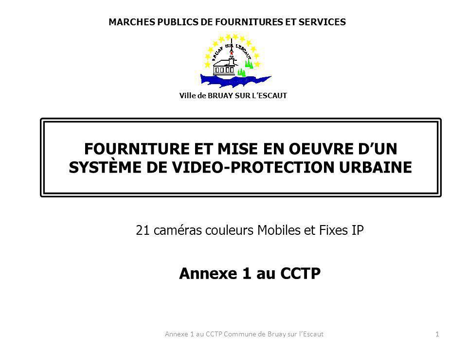 LIEU DIMPLANTATION : CAMERAS FIXES C 13/1 et C13/2 Salle des fêtes G.