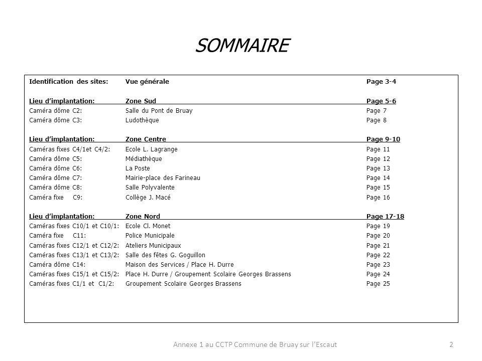 IDENTIFICATION DES SITES : VUE GENERALE Annexe 1 au CCTP Commune de Bruay sur lEscaut3