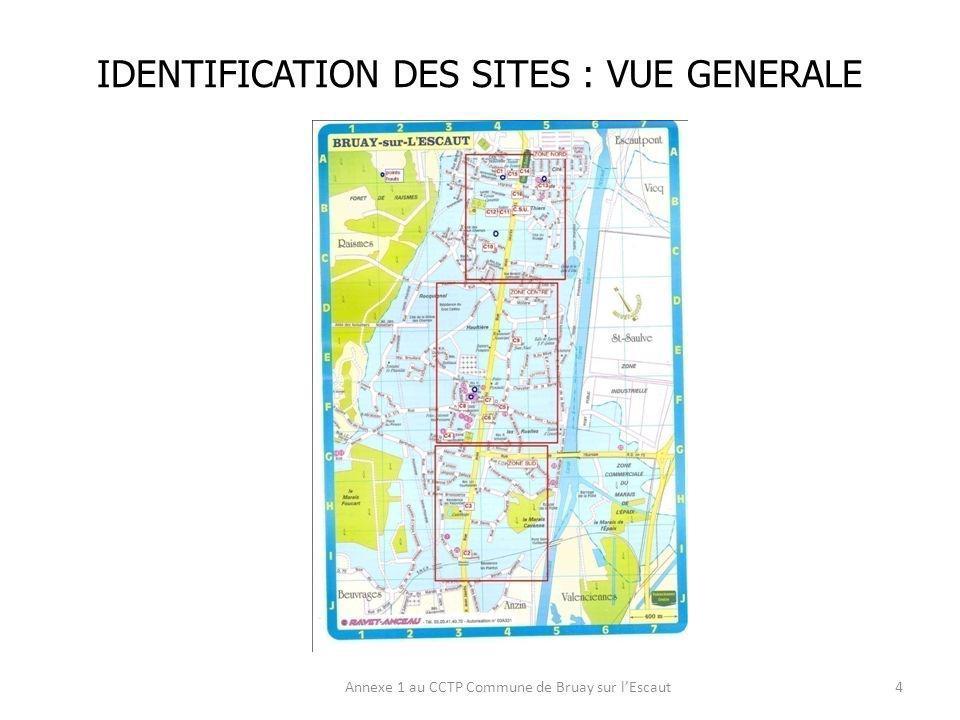 LIEU DIMPLANTATION : ZONE SUD Annexe 1 au CCTP Commune de Bruay sur lEscaut5