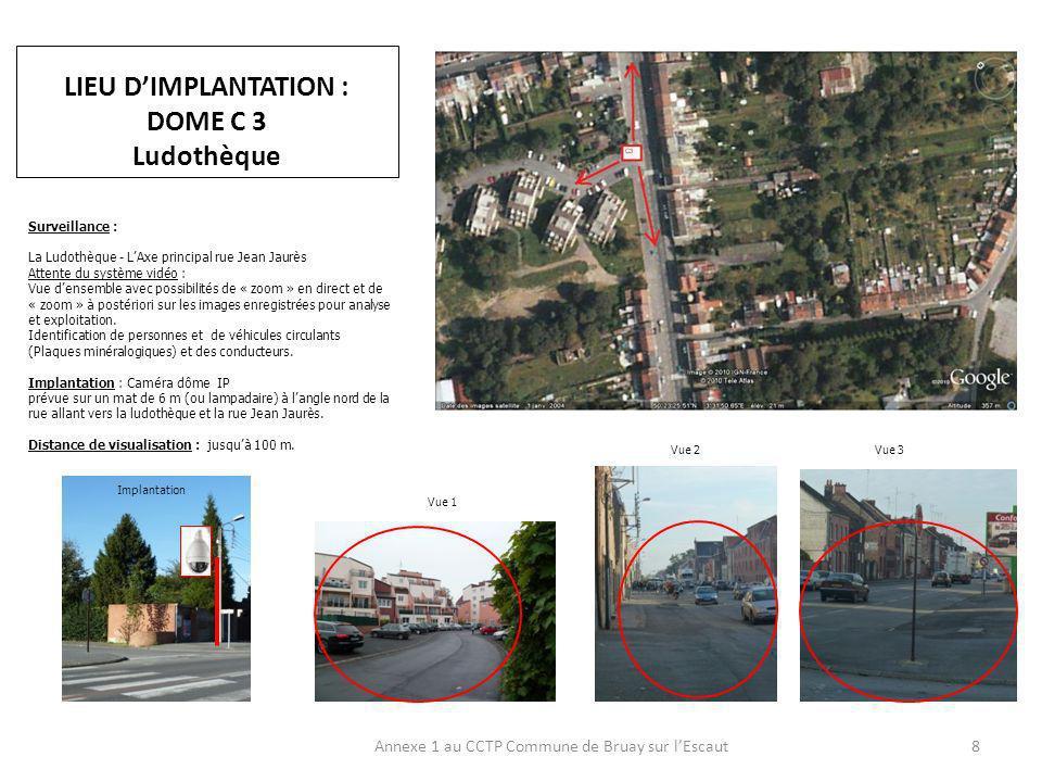 LIEU DIMPLANTATION : ZONE CENTRE Annexe 1 au CCTP Commune de Bruay sur lEscaut9