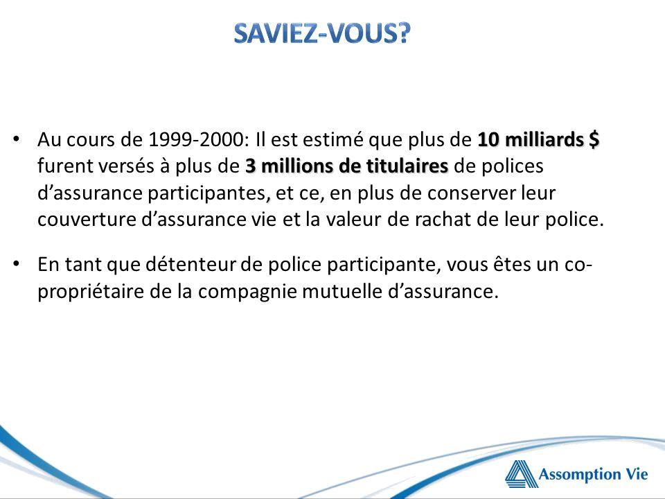 10 milliards $ 3 millions de titulaires, Au cours de 1999-2000: Il est estimé que plus de 10 milliards $ furent versés à plus de 3 millions de titulai