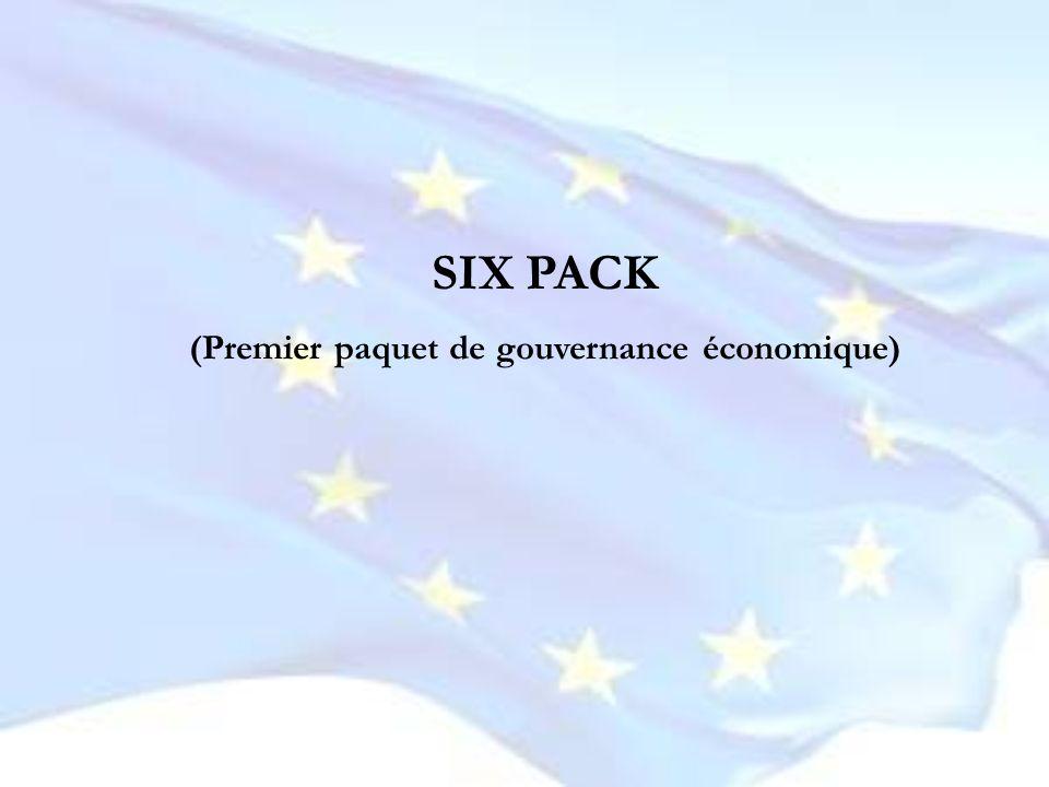 SIX PACK (Premier paquet de gouvernance économique)