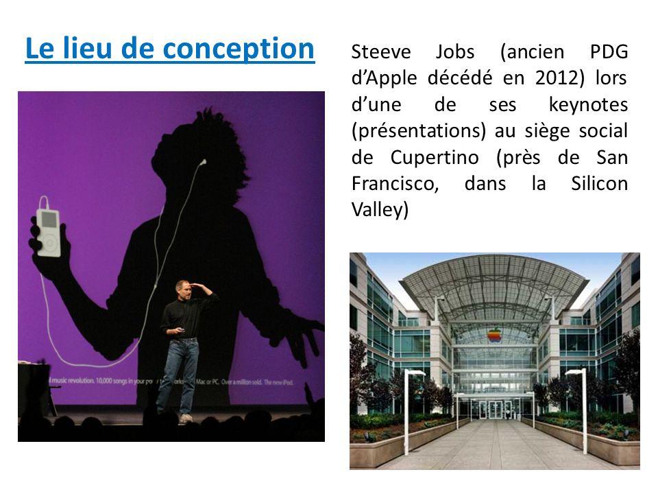 Steeve Jobs (ancien PDG dApple décédé en 2012) lors dune de ses keynotes (présentations) au siège social de Cupertino (près de San Francisco, dans la Silicon Valley) Le lieu de conception