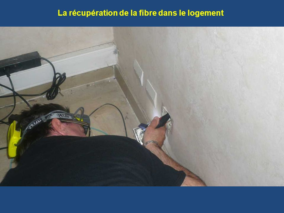 La récupération de la fibre dans le logement