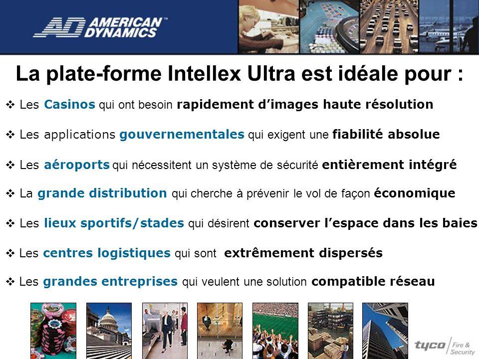 La plate-forme Intellex Ultra est idéale pour : Les Casinos qui ont besoin rapidement dimages haute résolution Les applications gouvernementales qui e