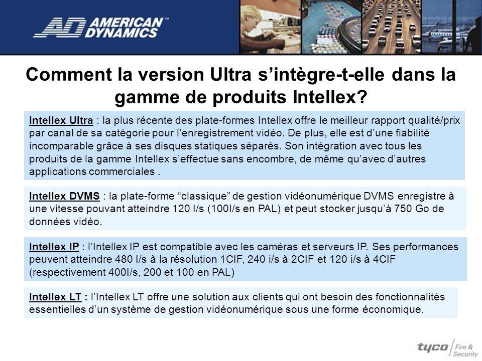 Comment la version Ultra sintègre-t-elle dans la gamme de produits Intellex? Intellex Ultra : la plus récente des plate-formes Intellex offre le meill