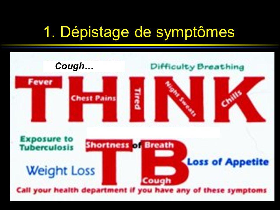 1. Dépistage de symptômes all detainees at entry Cough…