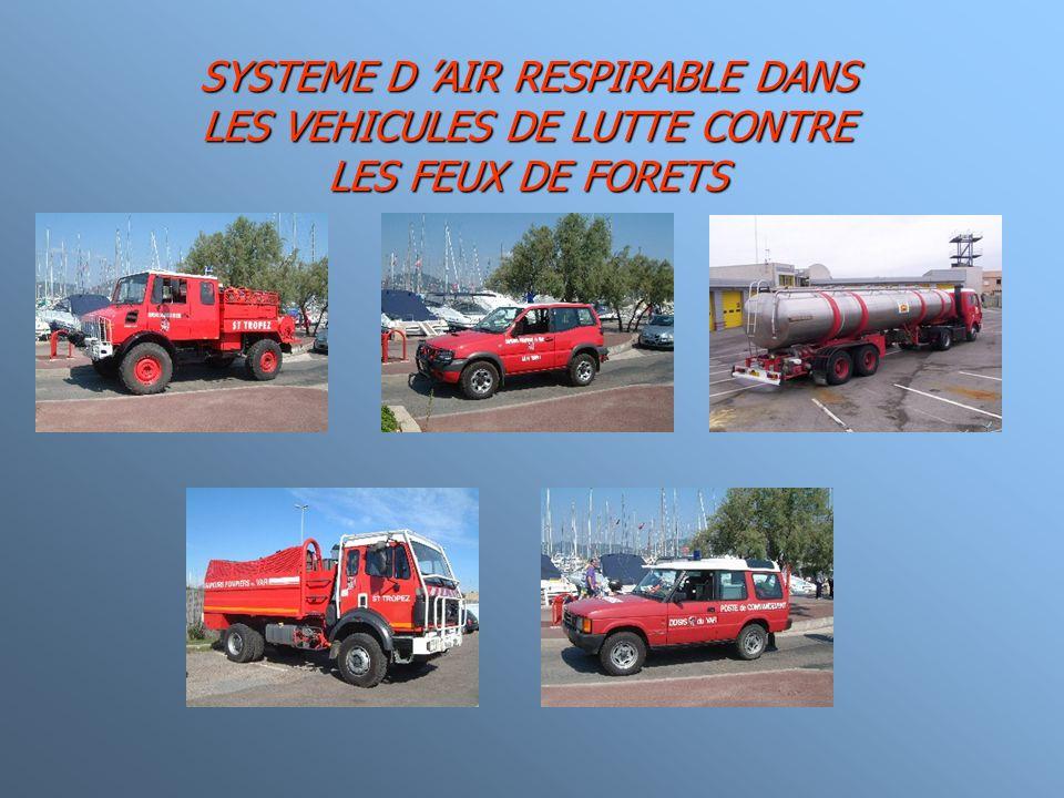 SYSTEME D AIR RESPIRABLE DANS LES VEHICULES DE LUTTE CONTRE LES FEUX DE FORETS
