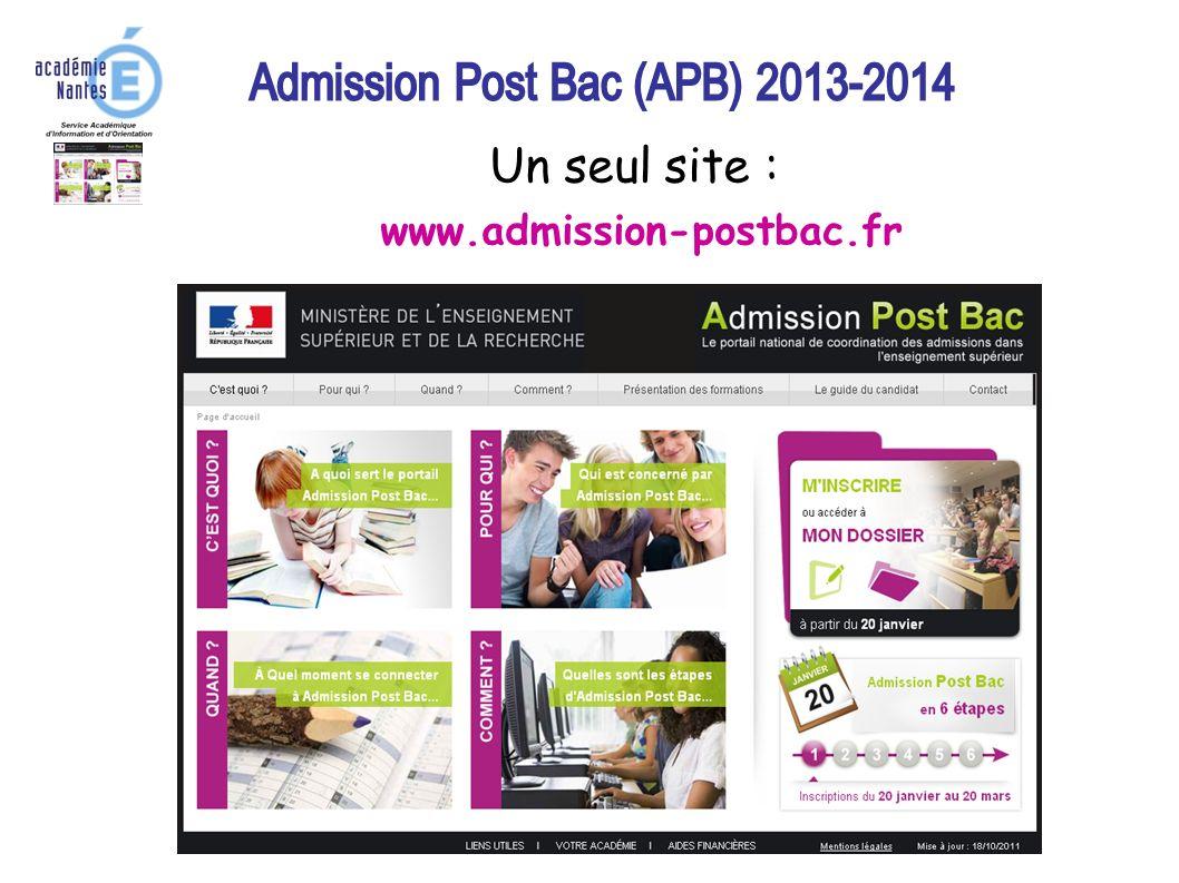 1 Un seul site : www.admission-postbac.fr