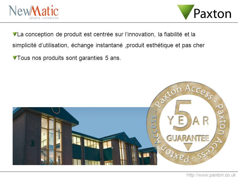 http://www.paxton.co.uk La conception de produit est centrée sur linnovation, la fiabilité et la simplicité dutilisation, échange instantané,produit e