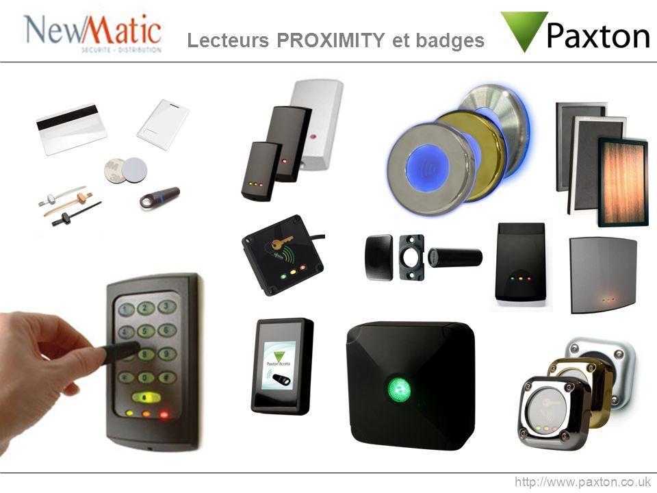 Lecteurs PROXIMITY et badges http://www.paxton.co.uk