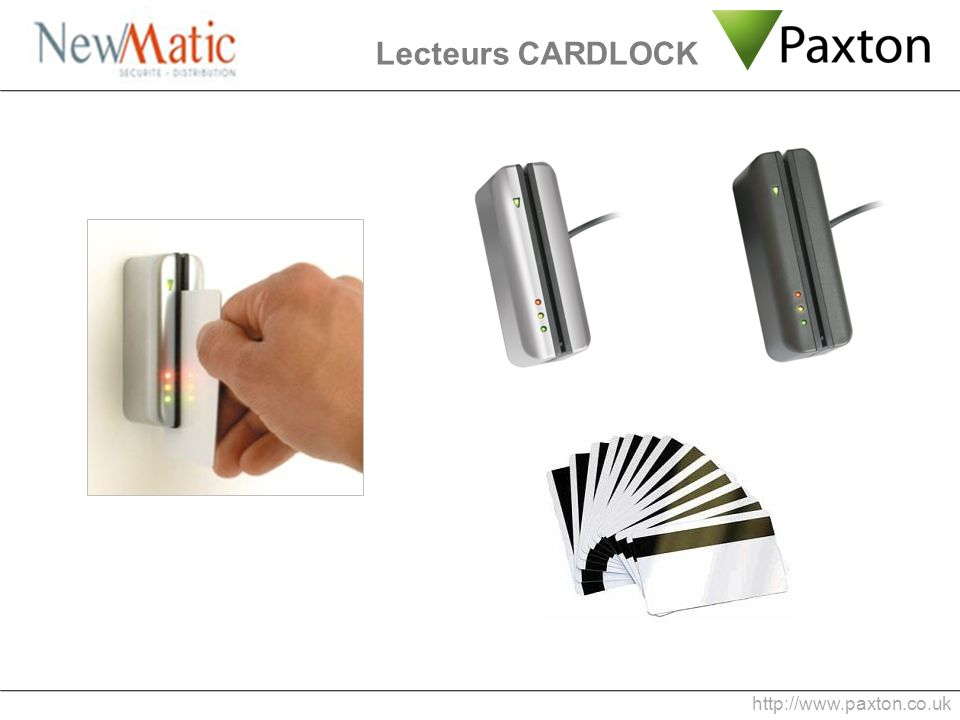 Lecteurs CARDLOCK http://www.paxton.co.uk