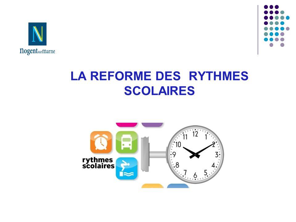 LA REFORME DES RYTHMES SCOLAIRES