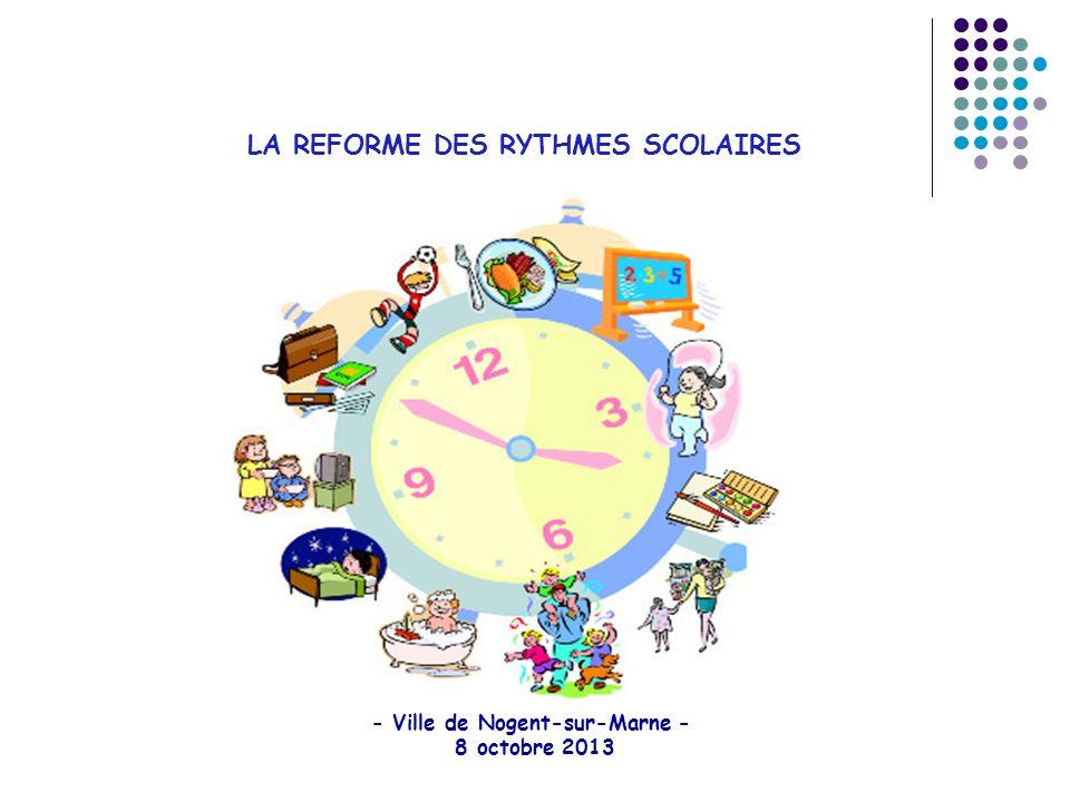LA REFORME DES RYTHMES SCOLAIRES - Ville de Nogent-sur-Marne - 8 octobre 2013