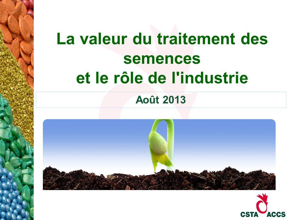 La valeur du traitement des semences et le rôle de l'industrie Août 2013
