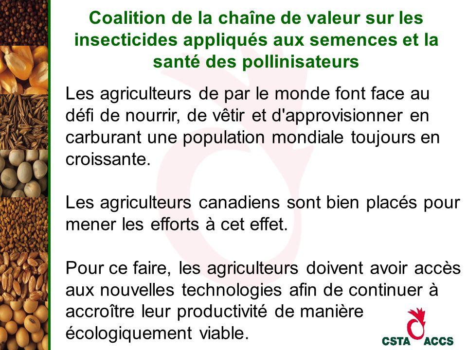 Coalition de la chaîne de valeur sur les insecticides appliqués aux semences et la santé des pollinisateurs Les agriculteurs de par le monde font face