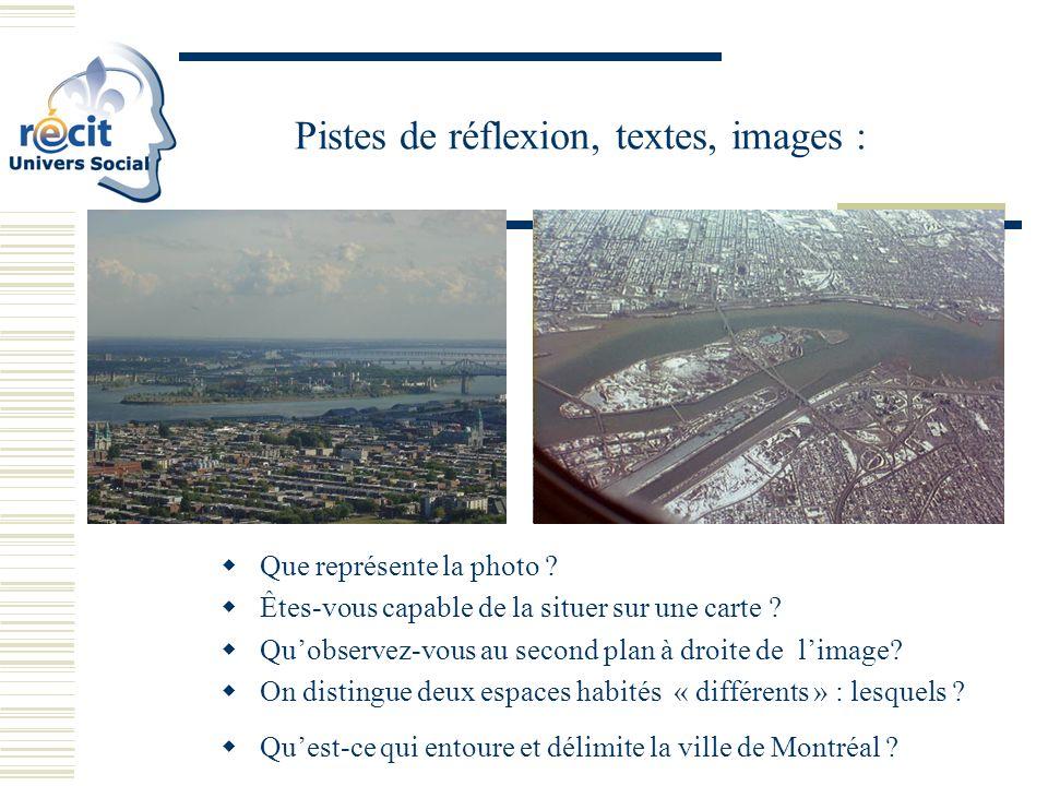 Pistes de réflexion, textes, images : Que représente la photo .