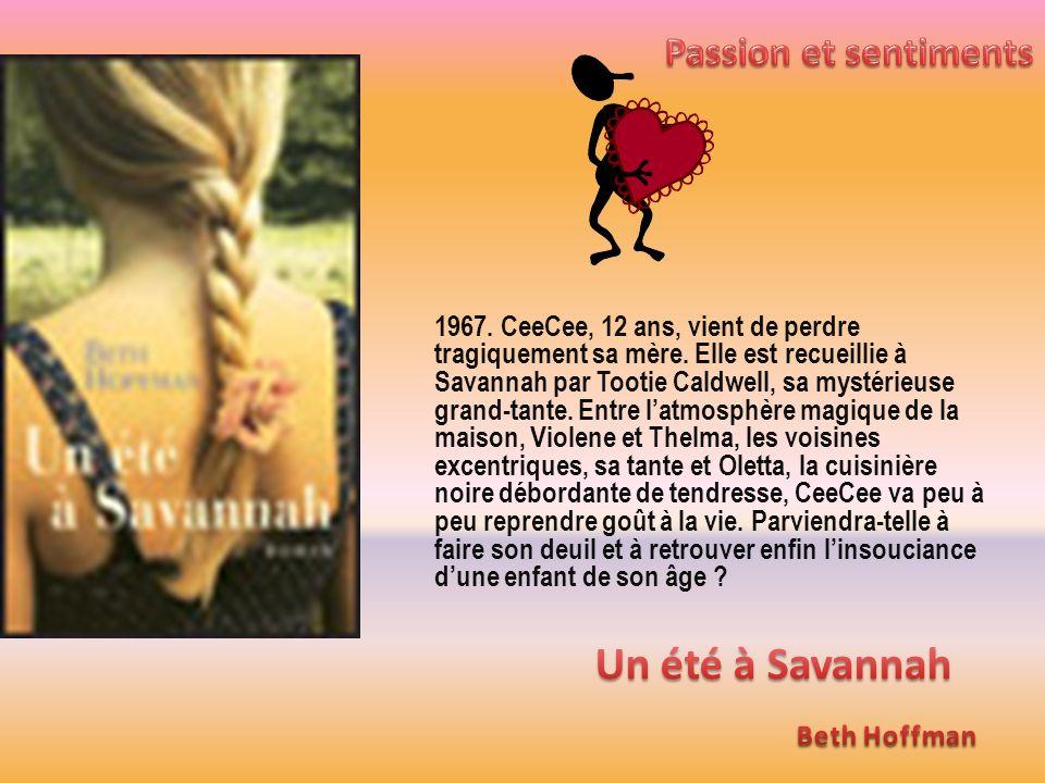 1967. CeeCee, 12 ans, vient de perdre tragiquement sa mère. Elle est recueillie à Savannah par Tootie Caldwell, sa mystérieuse grand-tante. Entre latm