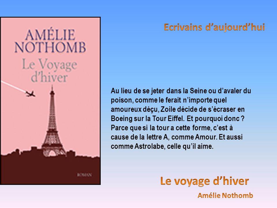 Au lieu de se jeter dans la Seine ou davaler du poison, comme le ferait nimporte quel amoureux déçu, Zoile décide de sécraser en Boeing sur la Tour Ei