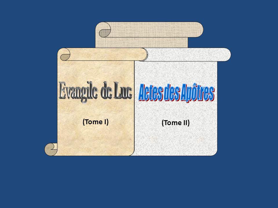ACTES 1 : 1-2: « Théophile, jai parlé, dans mon premier livre, de tout ce que Jésus a commencé de faire et denseigner dès le commencement jusquau jour où … »