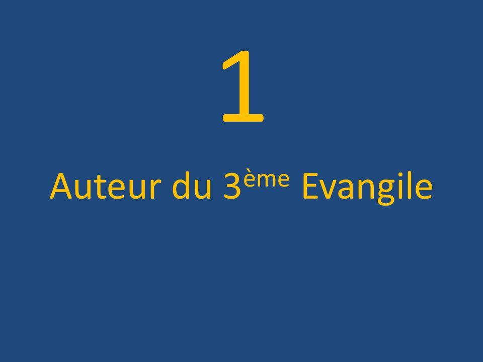 1 Auteur du 3 ème Evangile