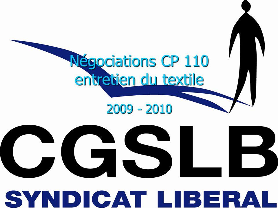 Négociations CP 110 entretien du textile 2009 - 2010