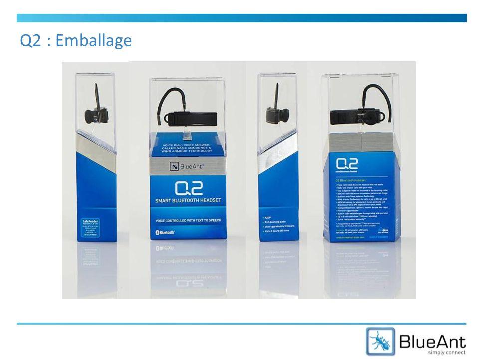 Q2 : Emballage