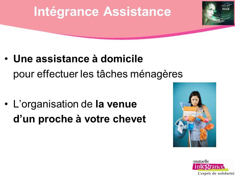 Intégrance Assistance Une assistance à domicile pour effectuer les tâches ménagères Lorganisation de la venue dun proche à votre chevet