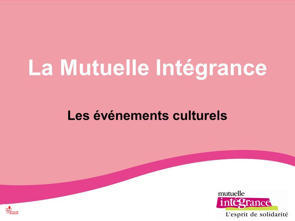 La Mutuelle Intégrance Les événements culturels