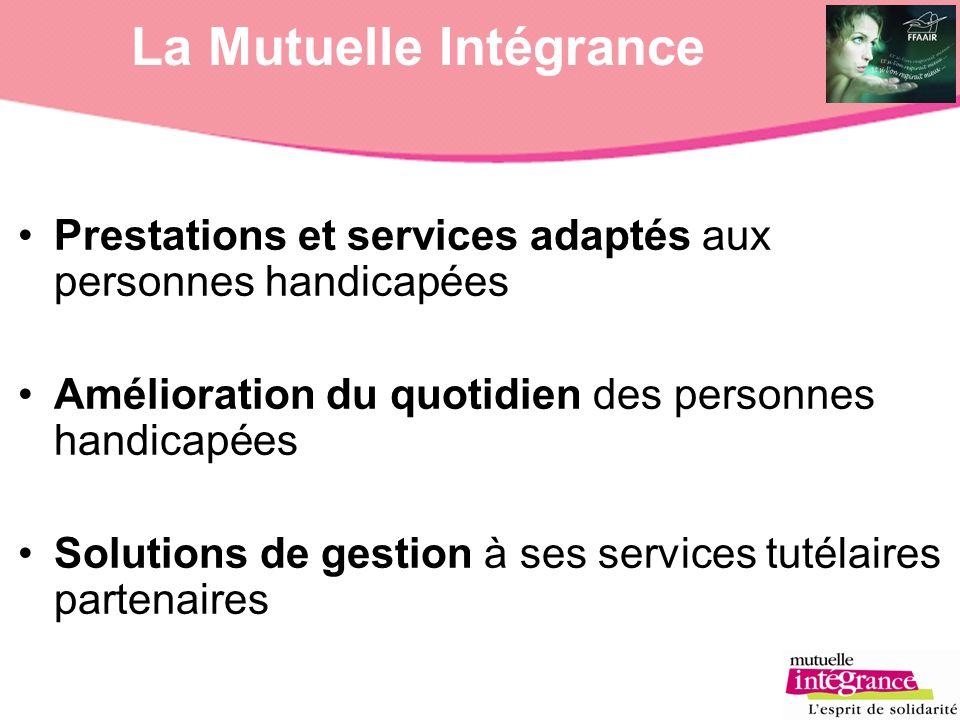 La Mutuelle Intégrance Prestations et services adaptés aux personnes handicapées Amélioration du quotidien des personnes handicapées Solutions de gest