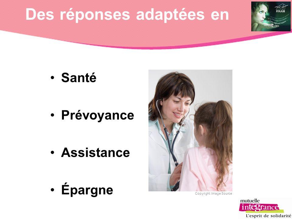 Des réponses adaptées en Copyright: Image Source Santé Prévoyance Assistance Épargne