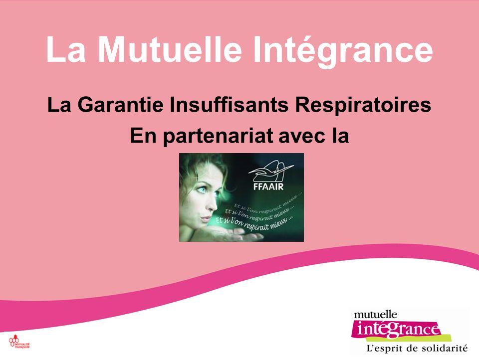 La Mutuelle Intégrance La Garantie Insuffisants Respiratoires En partenariat avec la