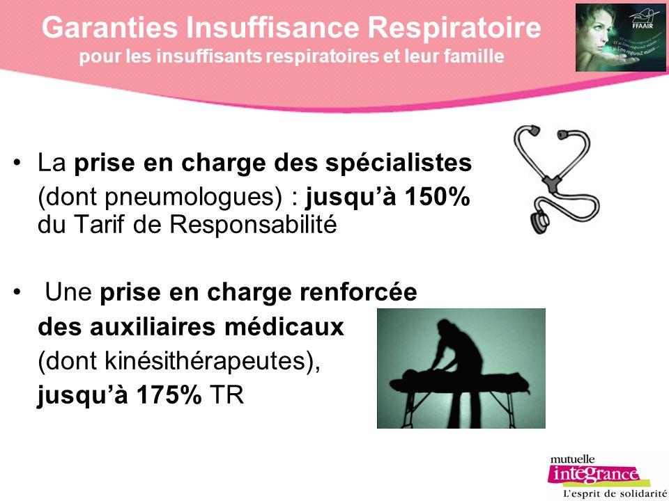 La prise en charge des spécialistes (dont pneumologues) : jusquà 150% du Tarif de Responsabilité Une prise en charge renforcée des auxiliaires médicau