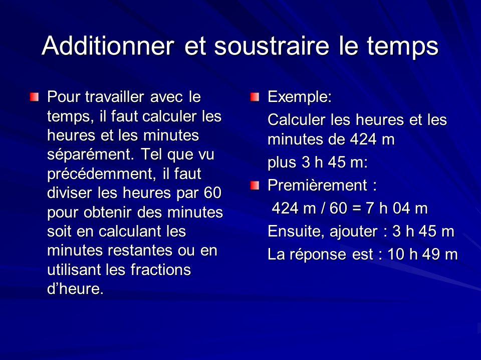La vitesse Pour calculer la vitesse moyenne dune heure de navigation à moteur ou à voile, multiplier la vitesse par la durée et répéter pour les autres périodes, additionner les produits ensemble et diviser le total par 60.