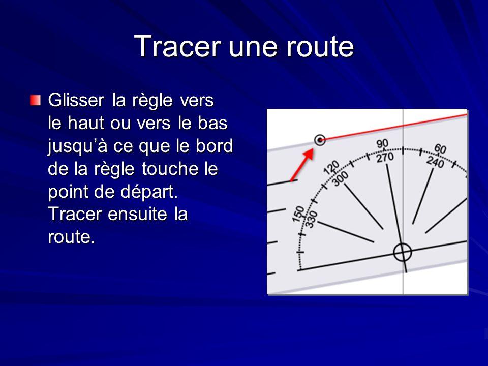 Conventions La ligne tracée doit être identifiée avec la direction de la route, précédée par la lettre C, pour cap.