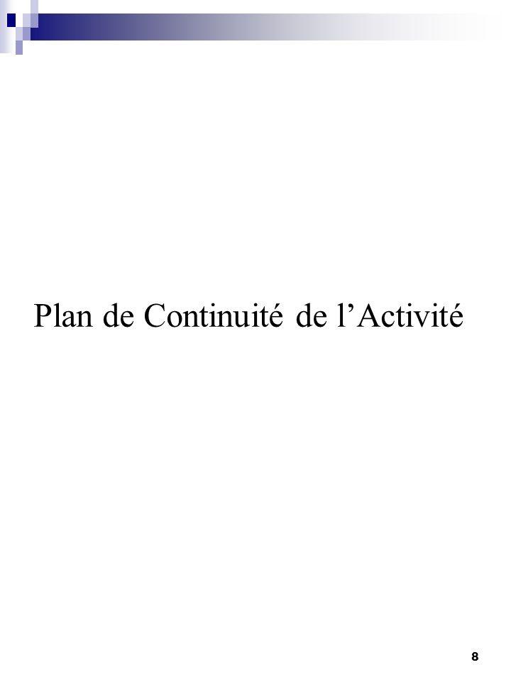 Plan de Continuité de lActivité 8