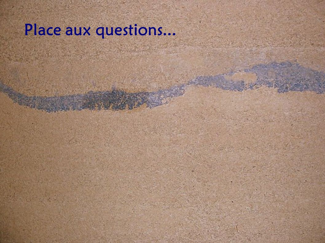 Place aux questions...
