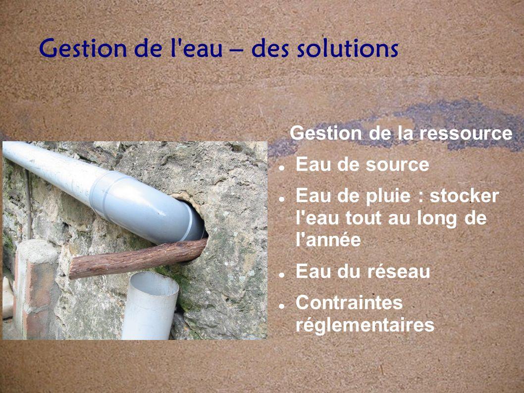Qualité de l eau distribuée Décret 2001-1220 du 20 décembre 2001, pris en application de diverses directives européennes (notamment celle du 3 janvier 1998) qui fixe les références de qualité auxquelles doit satisfaire leau du robinet.
