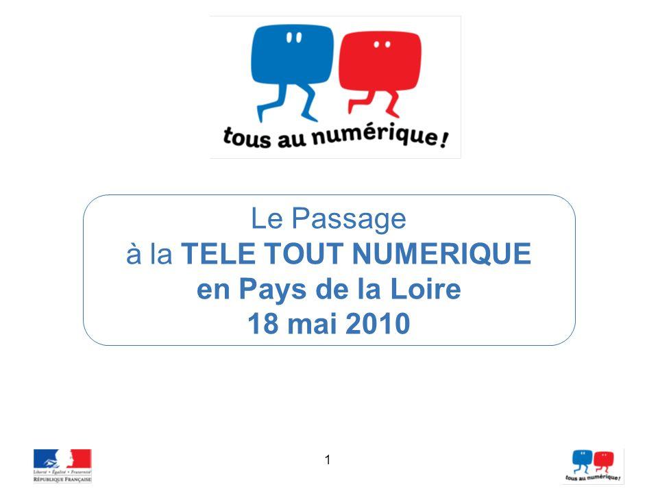 1 Le Passage à la TELE TOUT NUMERIQUE en Pays de la Loire 18 mai 2010