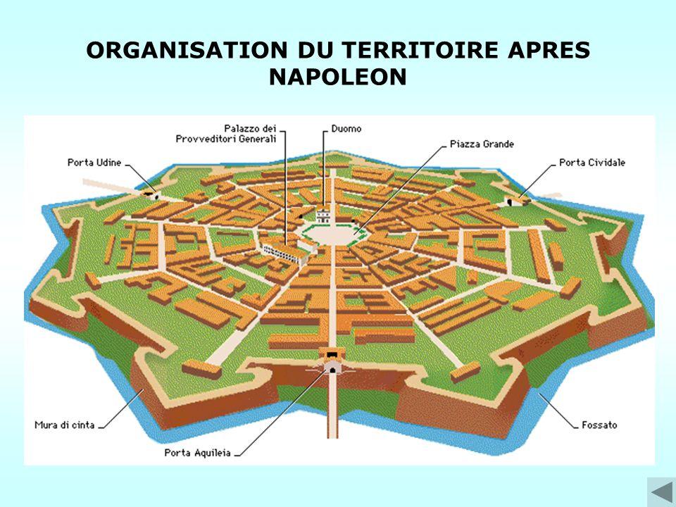 ORGANISATION DU TERRITOIRE APRES NAPOLEON
