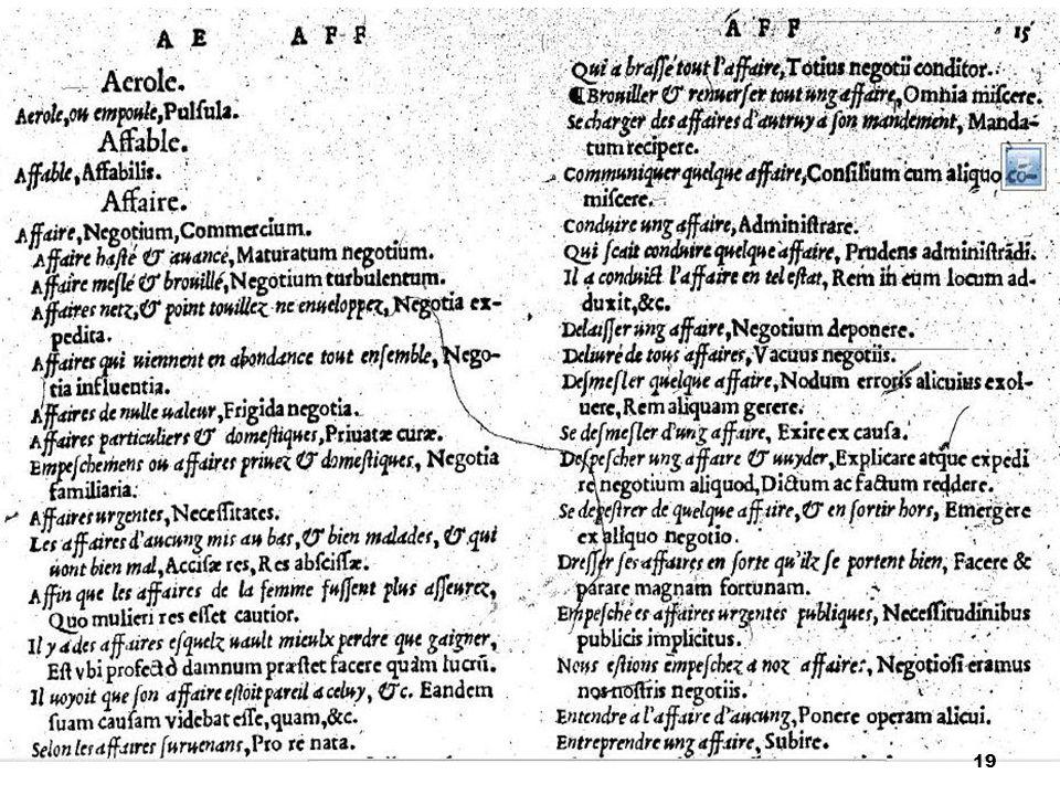 Dictionarium Latinogallicum Robert Estienne 1522 Dictionnaire latin-français http://www.ac- grenoble.fr/lycee/diois/Latin/archives/docs_et_ articles/Dicos/Dictionnaire%20latin%20francai s%20Robert%20Estienne.pdf http://www.ac- grenoble.fr/lycee/diois/Latin/archives/docs_et_ articles/Dicos/Dictionnaire%20latin%20francai s%20Robert%20Estienne.pdf Dictionnaire latin-français moderne (compilation Lebaigue 1881 et Gaffiot 1937) http://www.prima-elementa.fr/Dico.htm 20