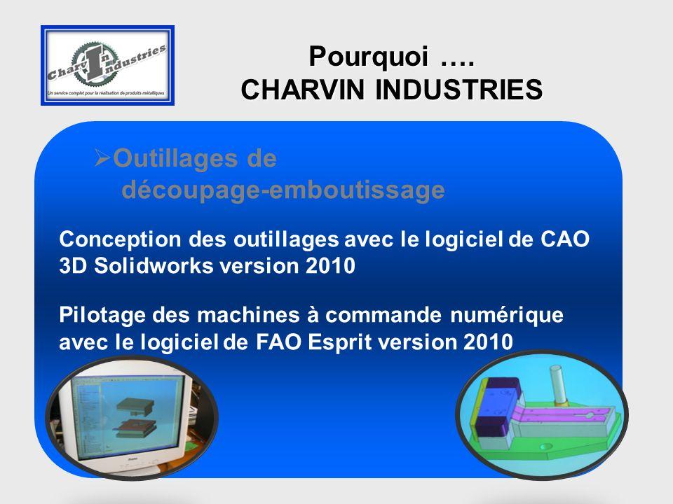 Outillages de découpage-emboutissage Conception des outillages avec le logiciel de CAO 3D Solidworks version 2010 Pilotage des machines à commande num