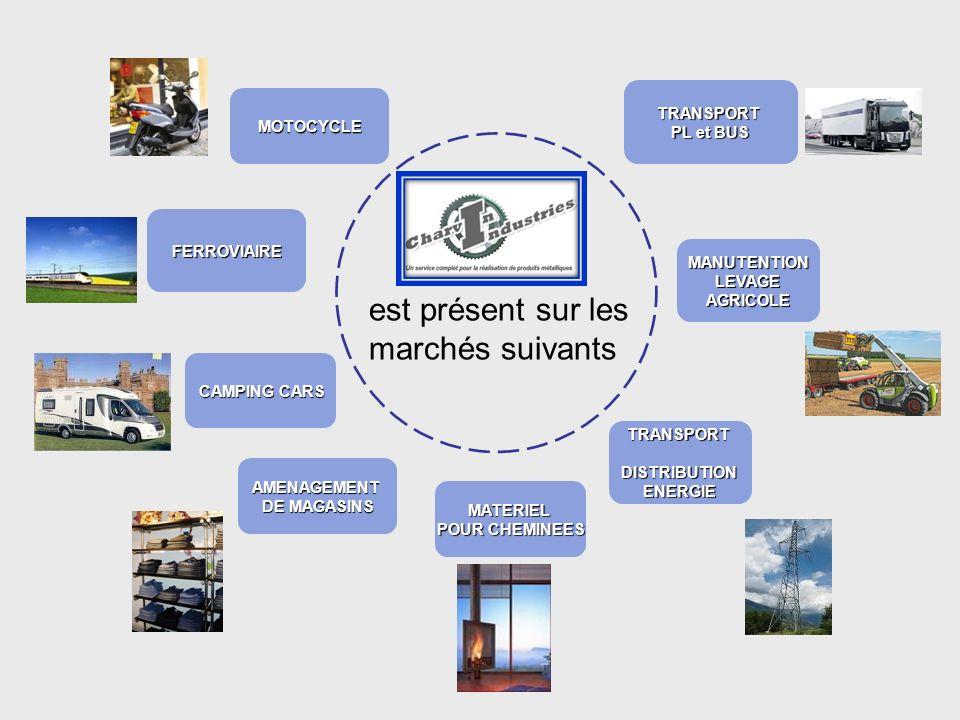 est présent sur les marchés suivants CAMPING CARS FERROVIAIRE AMENAGEMENT DE MAGASINS MATERIEL POUR CHEMINEES TRANSPORTDISTRIBUTIONENERGIE TRANSPORT P