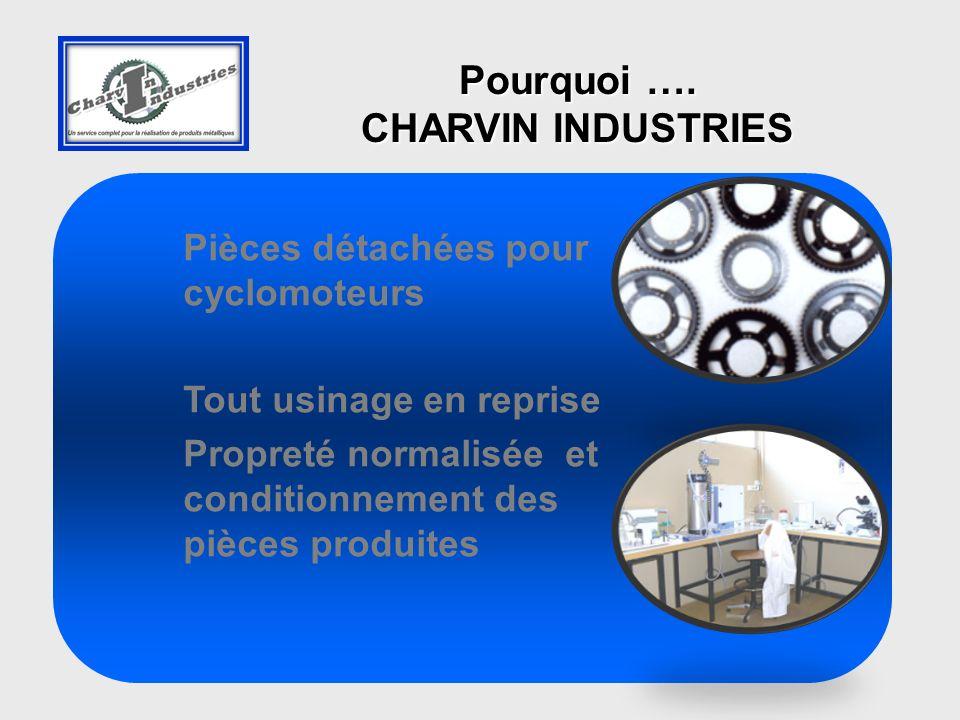 Pièces détachées pour cyclomoteurs Tout usinage en reprise Propreté normalisée et conditionnement des pièces produites Pourquoi ….