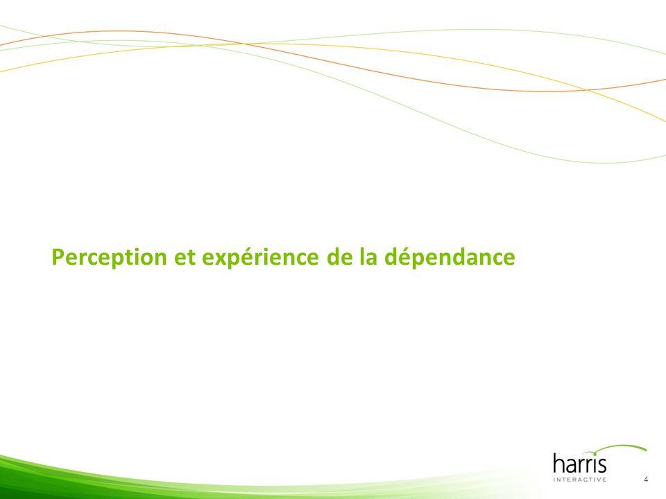 Perception et expérience de la dépendance 4